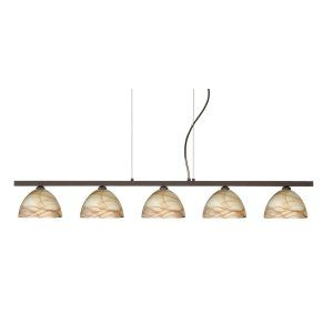 Besa Lighting BEL 5LP 467983 BR Brella Island Light