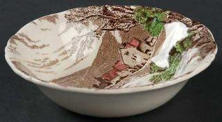 Alfred Meakin Tintern Brown/Multicolor Fruit/Dessert (Sauce) Bowl, Fine China Di