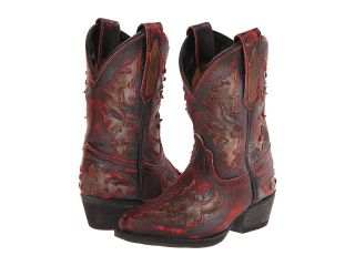 Dan Post Kids Western Fashion Cowboy Boots (Burgundy)
