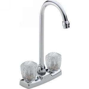 Delta Faucet 2178LF Other Core Classic Two Handle Knob Bar/Prep Faucet
