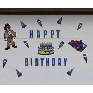 Fun Stix Birthday Boy Magnetic Decorations