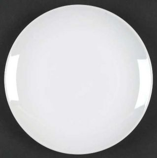 Tabletops Unlimited Luna Salad Plate, Fine China Dinnerware   All White,Undecora
