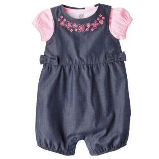 Just One YouMade by Carters Newborn Girls Romper Set   Blue/Pink 18M