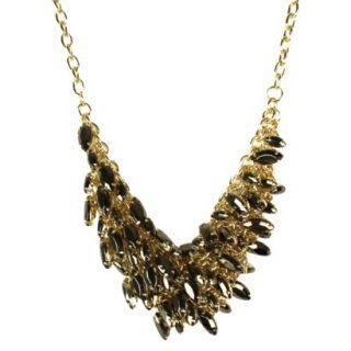 Womens Statement Necklace   Bronze/Gold