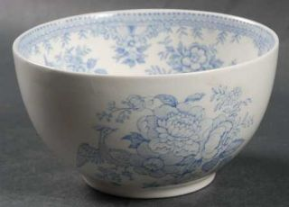 Burgess & Leigh Asiatic Pheasants Blue 4 All Purpose (Cereal) Bowl, Fine China