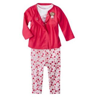 Just One YouMade by Carters Newborn Girls 3 Piece Set   Pink 9 M