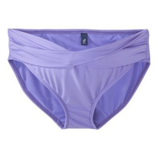 Womens Maternity Twist Front Hipster Swim Bottom   Periwinkle L