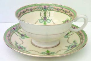 Lenox China Sheraton Ivory Footed Cup & Saucer Set, Fine China Dinnerware   Ivor