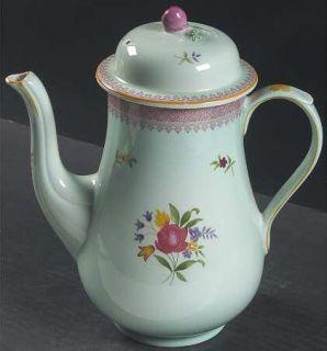 Adams China Lowestoft (Newer Backstamp) Small Coffee Pot & Lid, Fine China Dinne