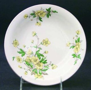 Edwin Knowles Buttercup Coupe Soup Bowl, Fine China Dinnerware   Yellow Flowers,