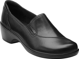 Womens Clarks May Poppy   Black Leather Casual Shoes