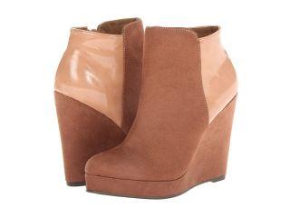 Michael Antonio Milena   Patent Womens Zip Boots (Brown)