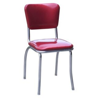 Dining Chair: Diner Chair   Set of 2 (Red)