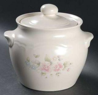 ... Pfaltzgraff Tea Rose Bean Pot u0026 Lid Fine China Dinnerware StonewarePink Rose ... & Pfaltzgraff Tea Rose Hanging Wall Clock Fine China Dinnerware ...