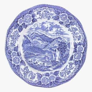 Royal Warwick Lochs Of Scotland Blue Sugar Bowl Lid Fine China