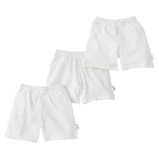 Burts Bees Baby Infant Toddler Boys 3 Pack Boxer Shorts   Dove White 3T