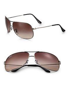 ray ban bubble wrap aviator g0sb  Ray Ban Aviator Square Wrap Sunglasses Gunmetal