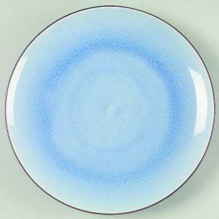 Ty Pennington Style Bali Hai Salad Plate, Fine China Dinnerware   Blue Inside/To