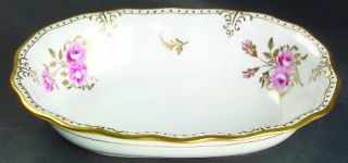 Royal Crown Derby Royal Pinxton Roses 9 Oval Vegetable Bowl, Fine China Dinnerw