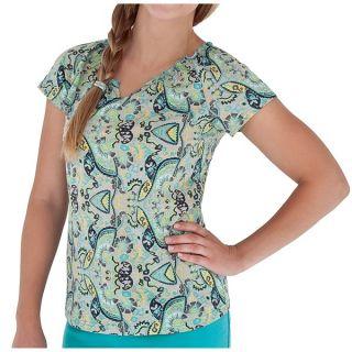 Royal Robbins Tadmor Jersey Shirt   Organic Cotton  Short Sleeve (For Women)   DARK CRIMSON (M )