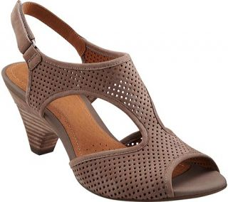 Womens Clarks Evant Julie   Light Grey Nubuck Casual Shoes