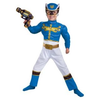 Toddler/Boys Blue Power Rangers Megaforce Muscle Chest Costume