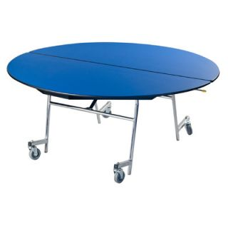 AmTab Manufacturing Corporation Vinyl Edge Particle Board Oval Mobile Table M