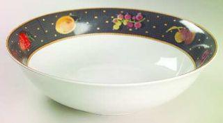Sasaki China Ravenna Charcoal 9 Round Vegetable Bowl, Fine China Dinnerware   F