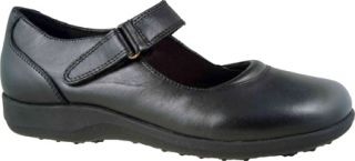 Womens Walking Cradles Alice   Black Leather Casual Shoes