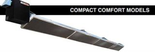 Berner Compact Heater   60,000 80,000 BTU, 20 Reflector, Stainless, Natural Gas