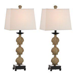 Dimond Lighting DMD D2449 S2 Breamore 2 Pack Shell Table Lamp