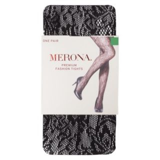 Merona Womens Opaque Sheer Tights   Large Floral Rachelle S/M