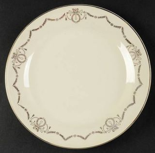 Edwin Knowles Adams Luncheon Plate, Fine China Dinnerware   Gold Laurel Swags,Sm