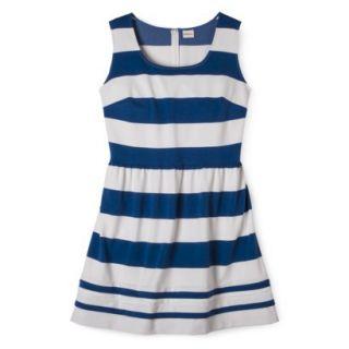 Merona Womens Plus Size Short Sleeve Ponte Dress   Black/Cream 2X