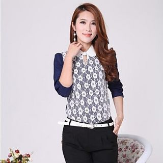 Womens Cute Doll Dollar Lace Blouse