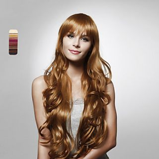 Capless Long High Quality Synthetic Curly Hair Wig Multiple Colors Available