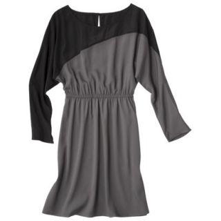 Mossimo Womens Long Sleeve Colorblock Dress   Gray/Flint XS