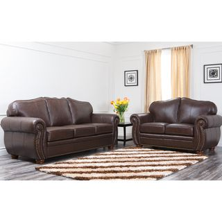 ... Abbyson Living Richfield Premium Top Grain Leather Sofa And Loveseat ...