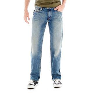 ARIZONA Original Straight Medium Wash Jeans, Medium Whisker, Mens