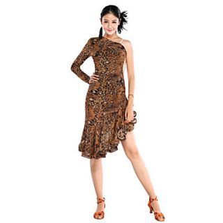 Fascinating Performance Tulle Latin Dance Dress For Ladies