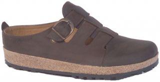 Haflinger Closed Toe Sandal Clog   Smokey Brown Casual Shoes