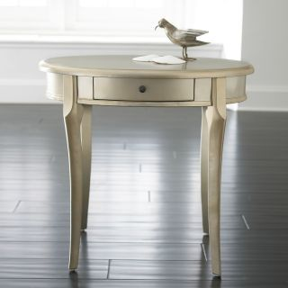 Oval Accent Table, Silver