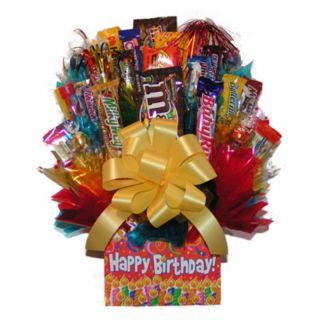Happy Birthday Box Candy Bouquet Multicolor   IAMG020