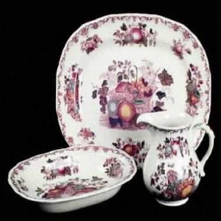Franciscan Fruit Basket 10 Oval Vegetable Bowl, Fine China Dinnerware   Pink/Mu