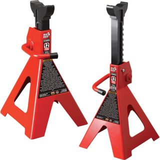 Torin Pair of Ratchet Action Jack Stands   12 Ton, Model T41202