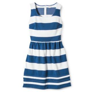 Merona Petites Short Sleeve Ponte Dress   Black/Cream XLP