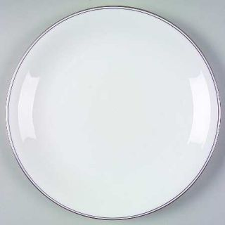 Wedgwood Doric (Platinum Trim) Dinner Plate, Fine China Dinnerware   White,Plati