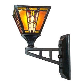 Dale Tiffany Amber Monarch Wall Sconce   5.5W in. Mica Bronze   TW100853