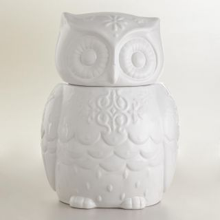 Snowy Owl Cookie Jar   World Market