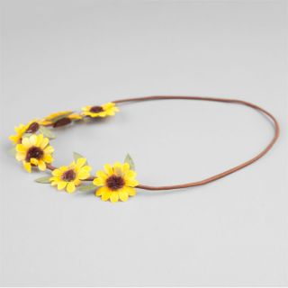Daisy With Leaves Crown Yellow One Size For Women 240719600